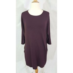 Wilfred Free Burgundy Tunic Dress S Pocket Aritzia